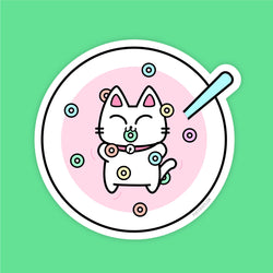 Kitty Loops - Vinyl Sticker - PlatterCats Creative