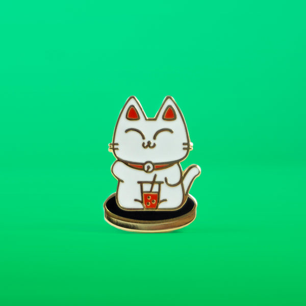 Boba Kit-Tea Enamel Pin, Boba Cat, Boba Tea - Platter Cats