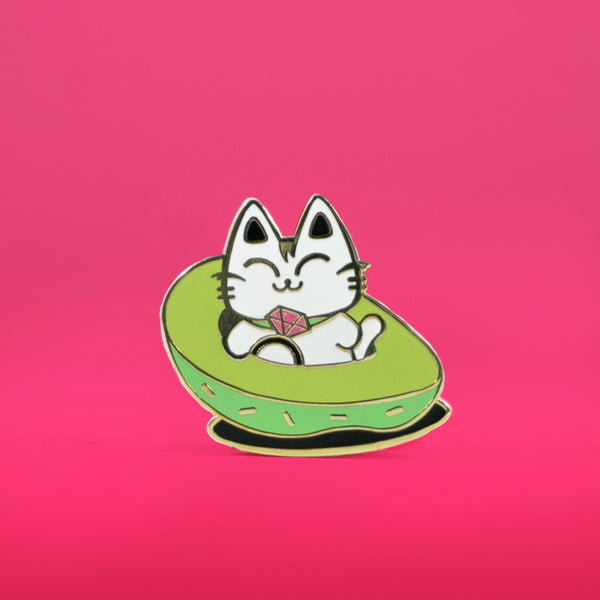 Avocado Cat Enamel Pin - PlatterCats Creative
