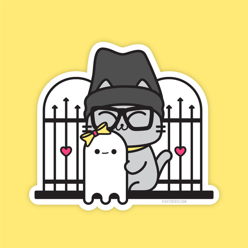 Ghost Adventures Kitty  - Vinyl Sticker - PlatterCats Creative