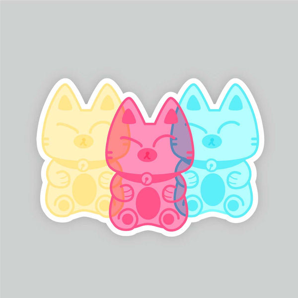 Grumpy Gummy Kitties - Vinyl Sticker