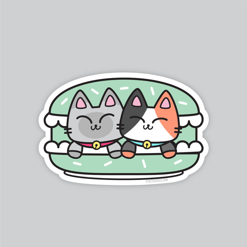 Macaroon Kitties  - Vinyl Sticker
