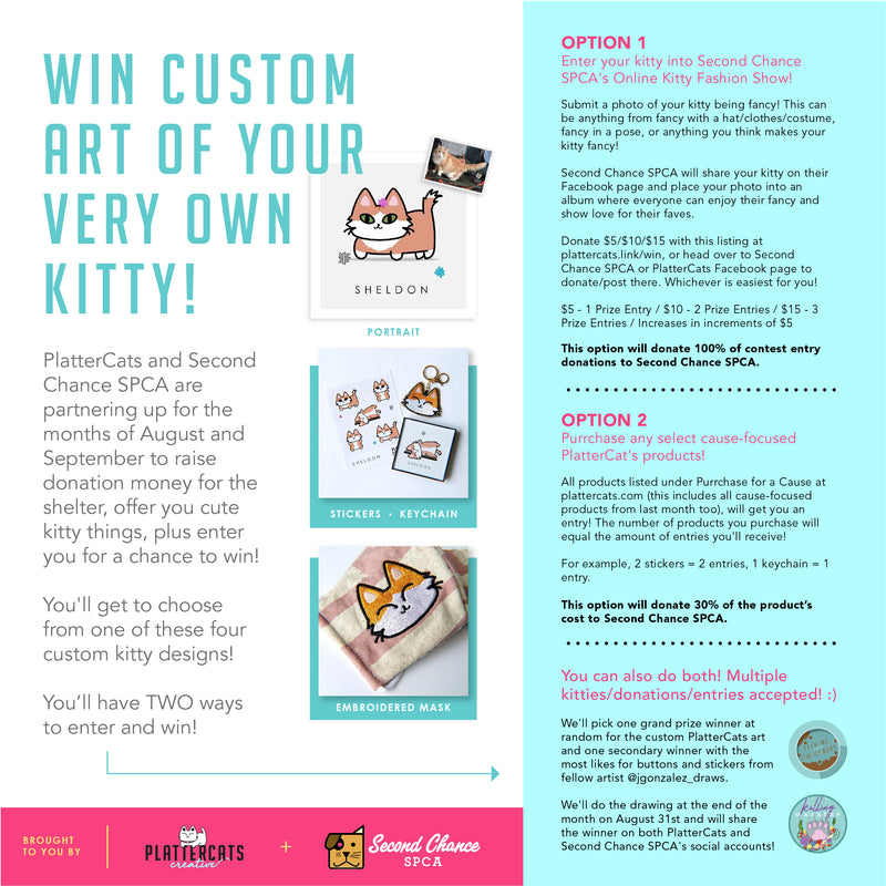 Kitty Fashion Show Entry + Donation for August Giveaway - PlatterCats Creative