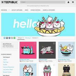 TeePublic Full Color Tees, Sweaters & More - PlatterCats Creative