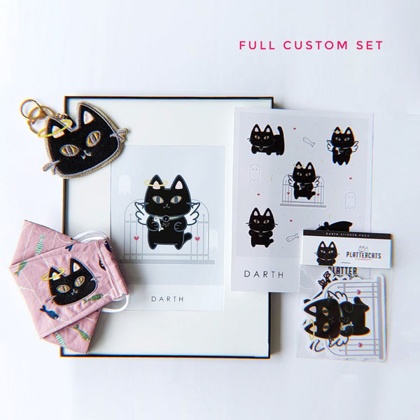 FULL SET // Custom Kitty Design - PlatterCats Creative