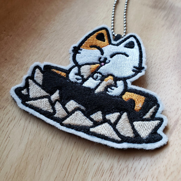 Queso Kitty - Embroidered Keychain or Patch