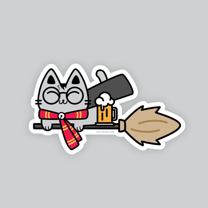 Wizard Kitty - Vinyl Sticker/s
