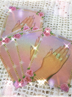Praying Muñeca Holographic Sticker