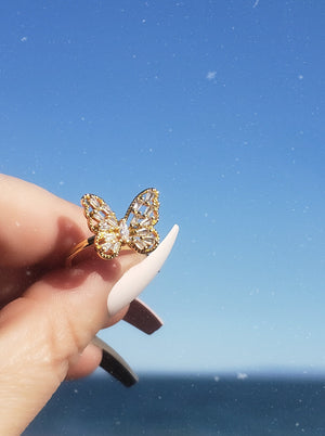 Sparkly Butterfly Ring