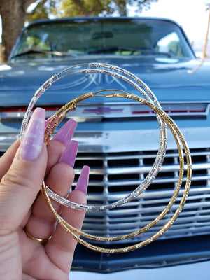 Thin Bamboo Hoops