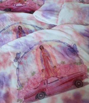 Virgencita Lowrider Tie Dye Crop Top