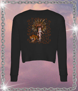 Betty Boop Aztlán Long Sleeve Crop Tee