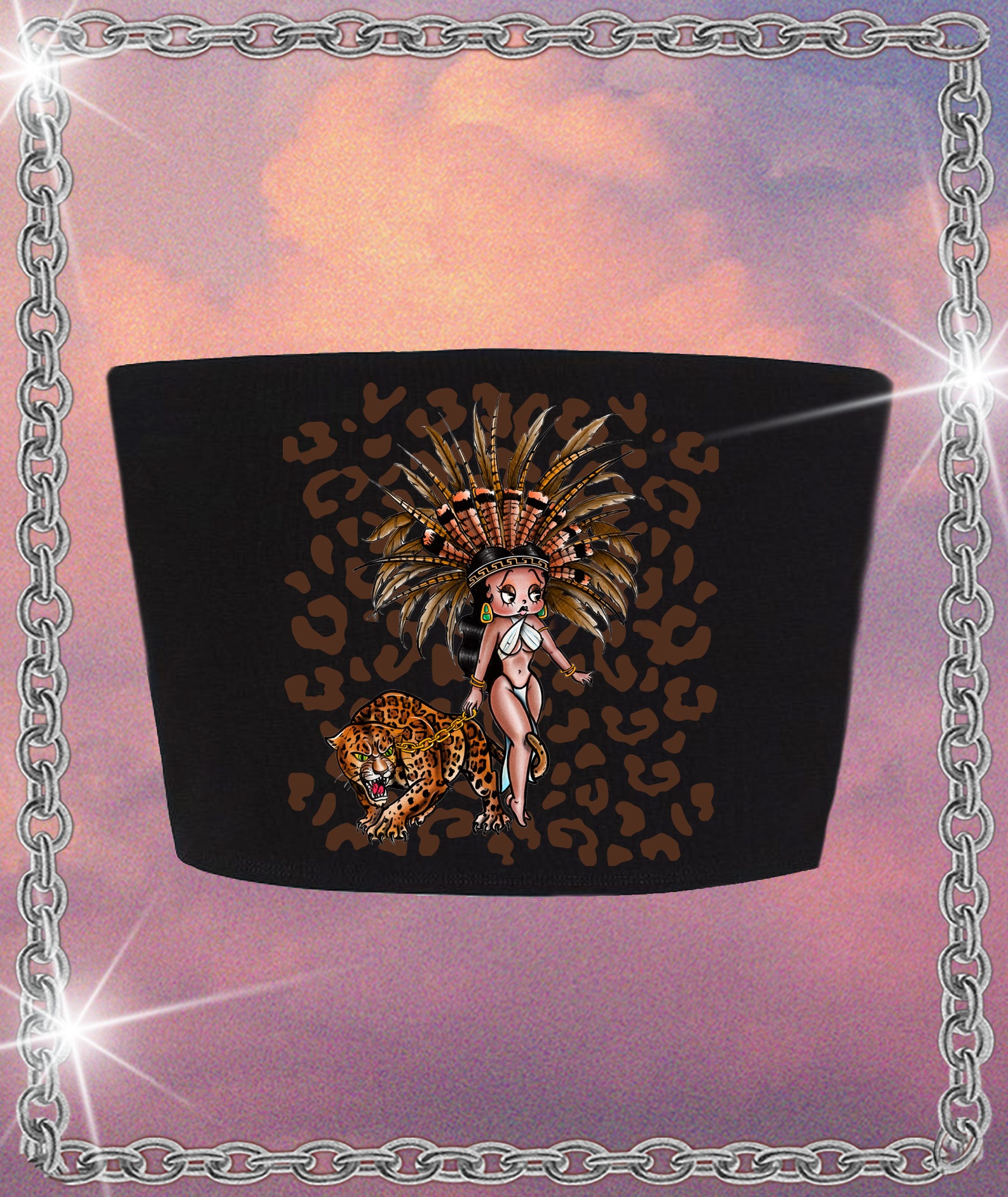 Betty Boop Aztlán Crop Top