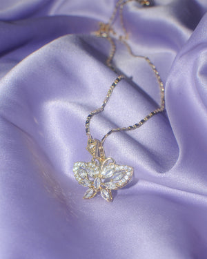 Princess Butterfly Crystal Necklace