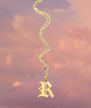 Custom Initial 24k Gold Plated Necklace