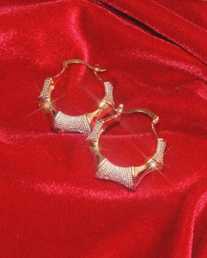 Princess Bamboo Hoop Earrings