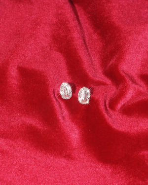 Mini Little Halo Virgencita Sterling Silver Studs