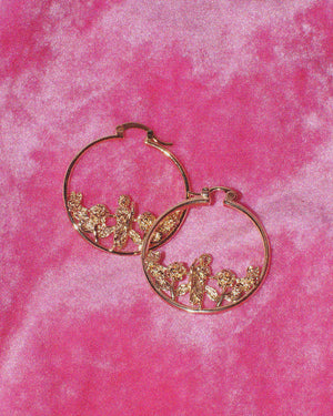San Judas Rose Mini Hoops