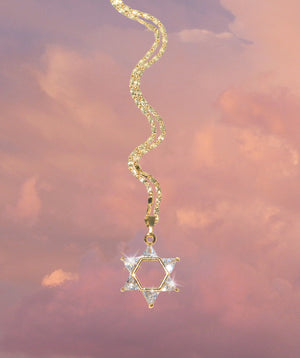Star of Davis Sparkly Necklace