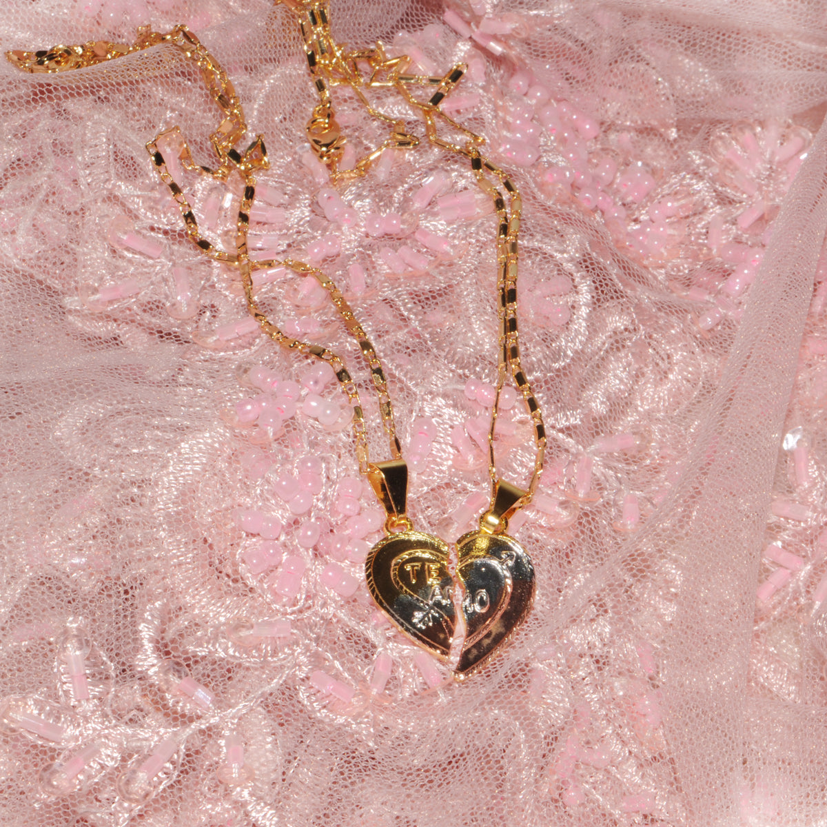 Te Amo Heart Necklace