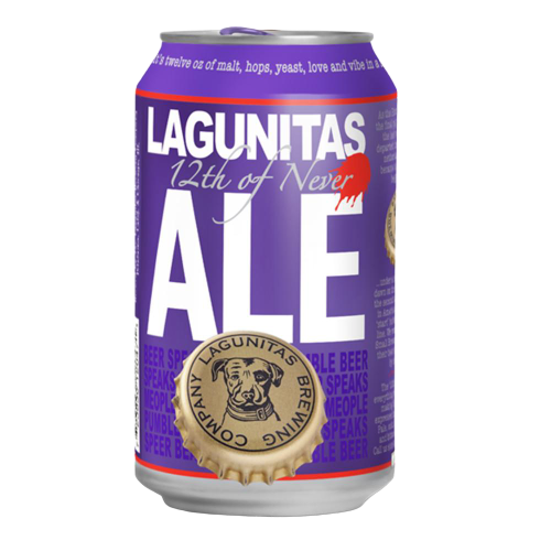 12 x 355ml Lagunitas 12th of Never Ale Beer Can Case