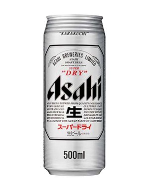 12 x 500ml Asahi Super Dry Beer Can Case