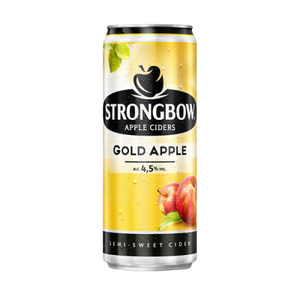 24 x 320ml Strongbow Apple Cider Gold Apple Can