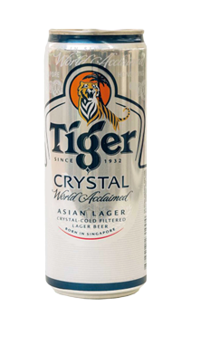 24 x 320ml Tiger Crystal Lager Beer Can Case