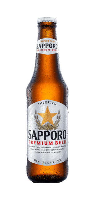 24 x 330ml Sapporo Premium Lager Beer Pint Case
