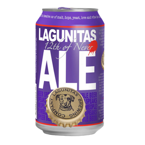 24 x 355ml Lagunitas 12th of Never Ale Beer Can Case