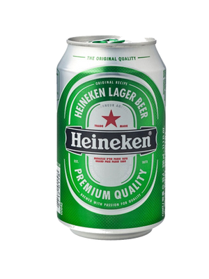 6 x 330ml Heineken Beer Can Case