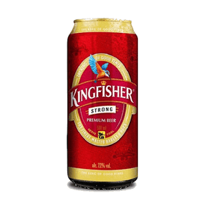 6 x 500ml Kingfisher Strong Beer Can Case