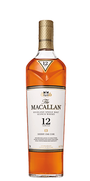 Macallan 12 Year Old (YO) Sherry Oak Single Malt Whiskey 700ml