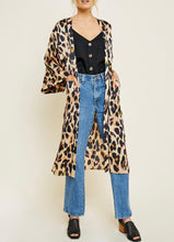 Load image into Gallery viewer, Wild Thing Leopard Duster