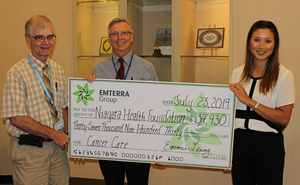 Emterra Environmental's gifts to Niagara Health Foundation in support of the Walker Family Cancer Centre over eight years tops $300,000