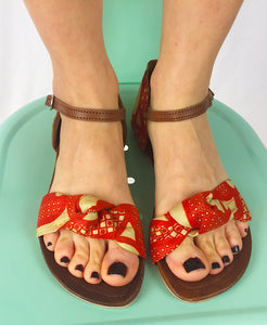 Louisa Sandal in Red
