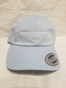 "Barbell ""lift."" Twill Hat - Light Blue"