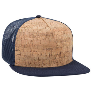 Blue Cork Front - Snapback Trucker Hat