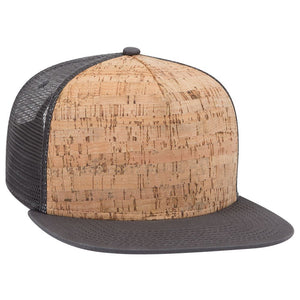 Gray Cork Front - Snapback Trucker Hat