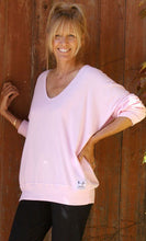 Load image into Gallery viewer, Raglan V Neck - Ballet Pink