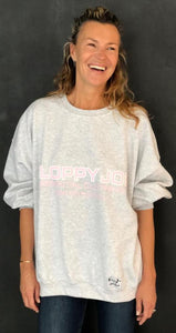 01 ORIGINAL CREW NECK - Grey Marl - Pink Logo