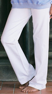 COTTON BLEND PANTS - White
