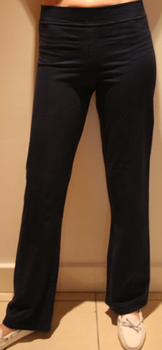 COTTON BLEND PANTS - Black