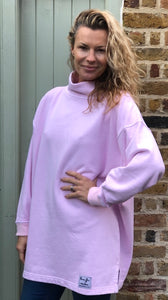 HIGH NECK SWEATSHIRT - Ballet Pink