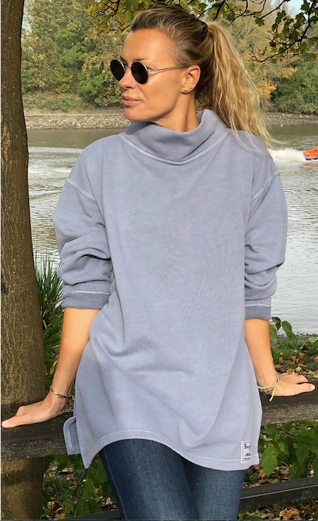 HIGH NECK SWEATSHIRT - Dove Grey