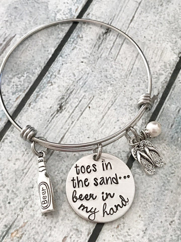 Fun Beach and Beer Bracelet