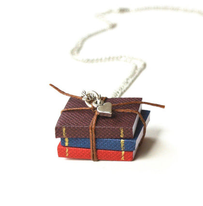 Miniature Book Necklace