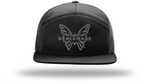 Benchmade Favorite 7 Panel Flat Bill Hat Black/Black