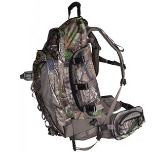 "Take the ""Mainbeam Pack"", add another 1000 cubic inch cargo compartment, five more pockets, dual suspension frame, side panel access, and the ability to haul a boned out deer and cape, and you have the new Horn Hunter MAINBEAM XL BACKPACK!"