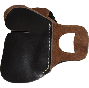 "Please choose size  Smooth leather face for clean release Soft suede leather backing Felt spacer to reduce ""String Pinch"""